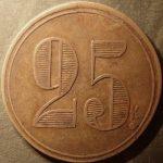 25 к. (круглая форма)